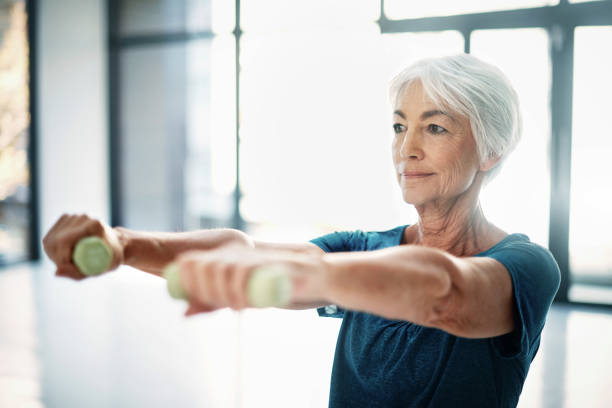 Age is no excuse to slack on your health stock photo