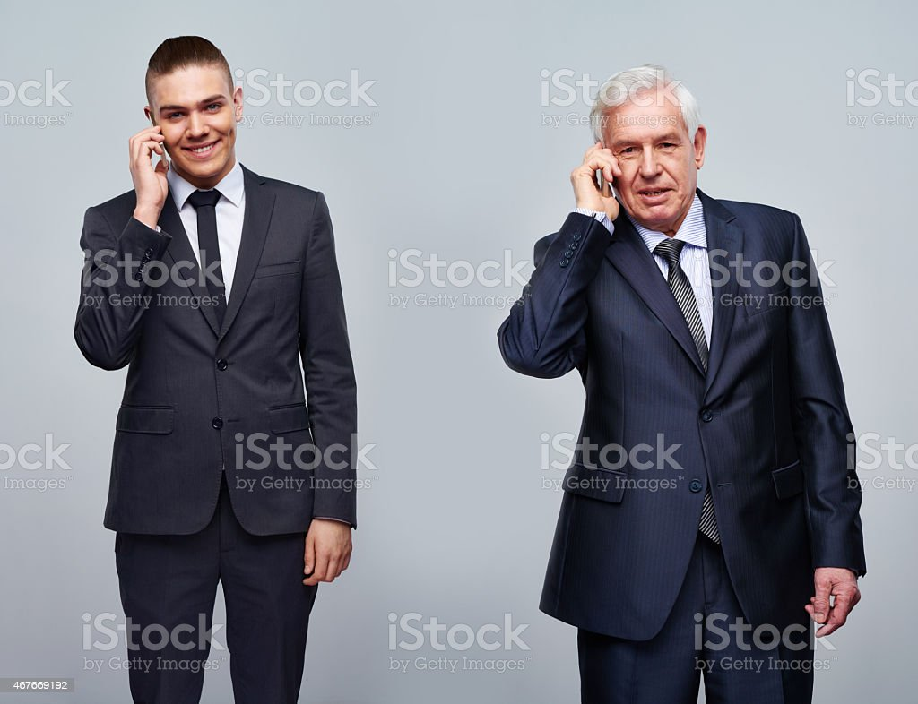 Age of smart phones stock photo