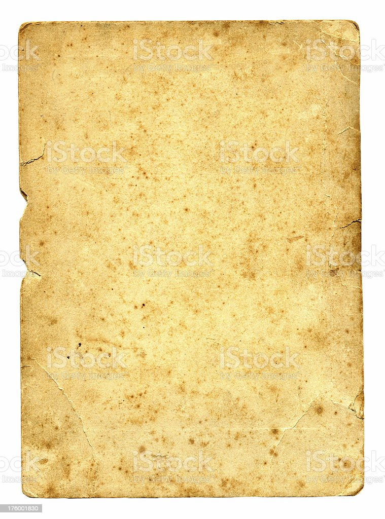 Age spotted Antique Paper royalty-free stock photo