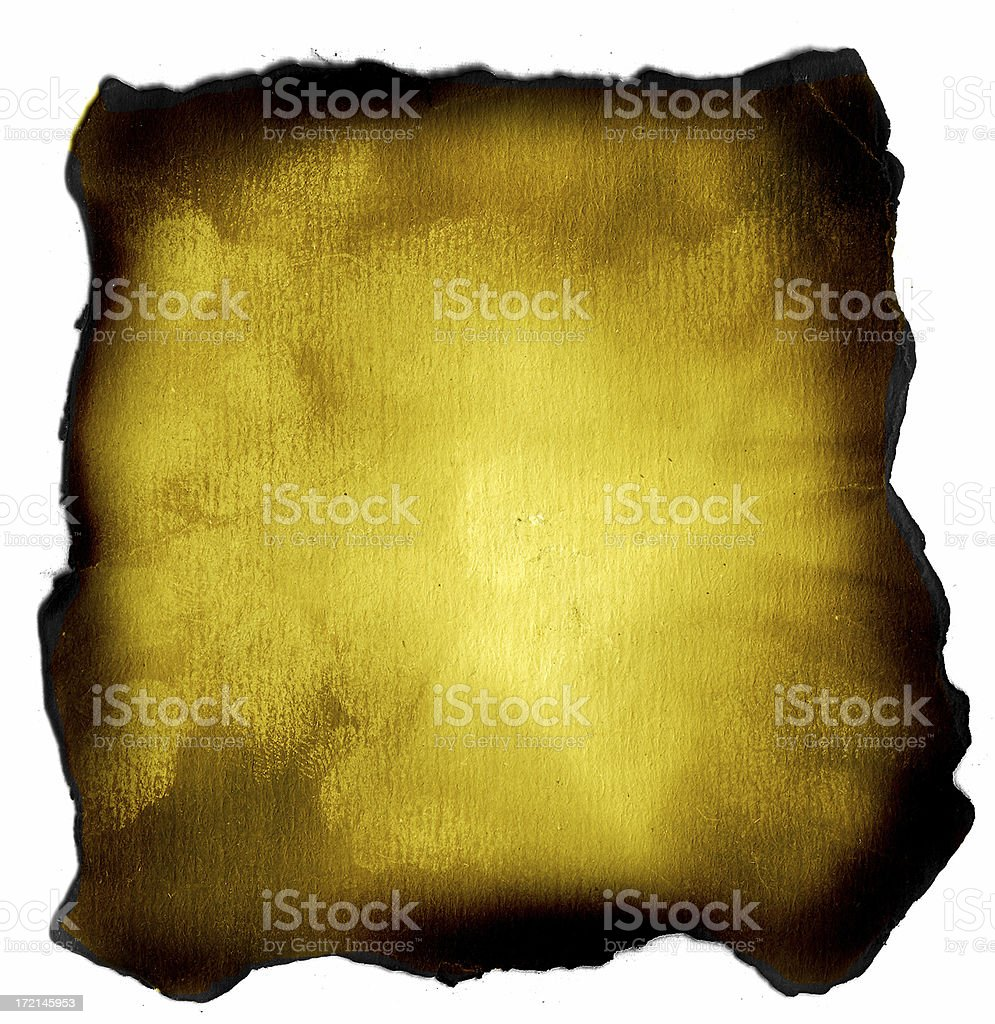 Aged and Burnt Parchment Paper Background stock photo