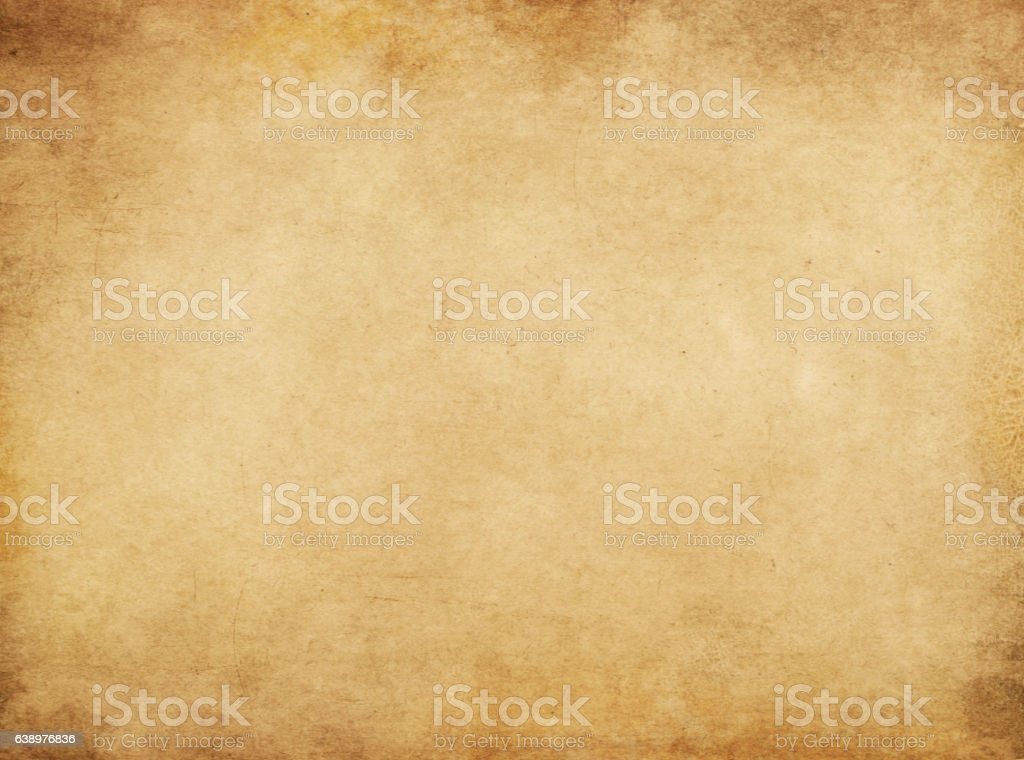 Aged and yellowed paper texture or background. stock photo