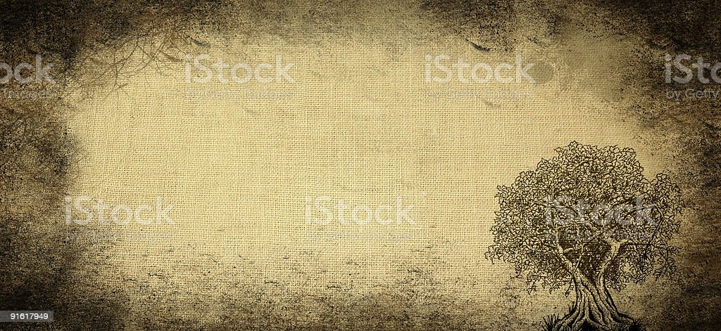 Aged background with tree royalty-free stock photo