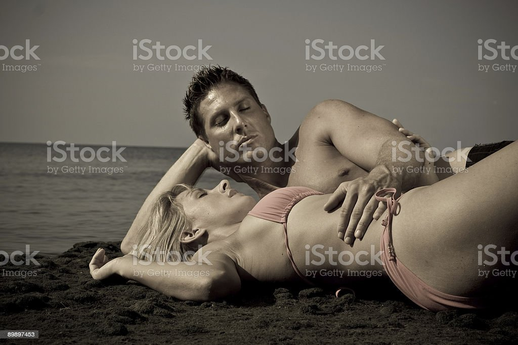 Aged beach shot royalty-free stock photo