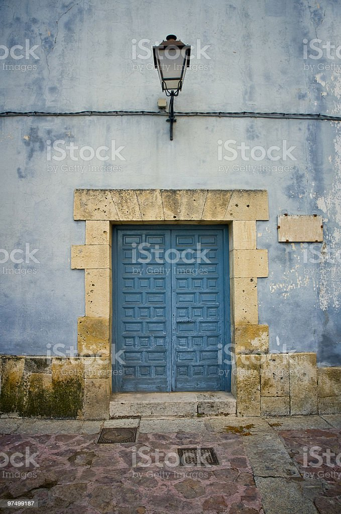 Aged Blue Door royalty-free stock photo