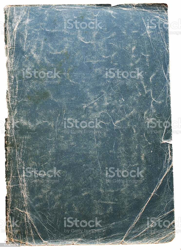 Aged Blue Paper royalty-free stock photo