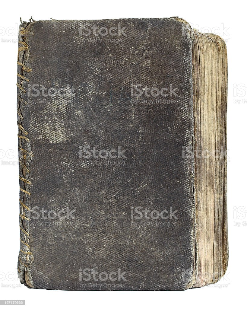 aged book cover frontal series stock photo