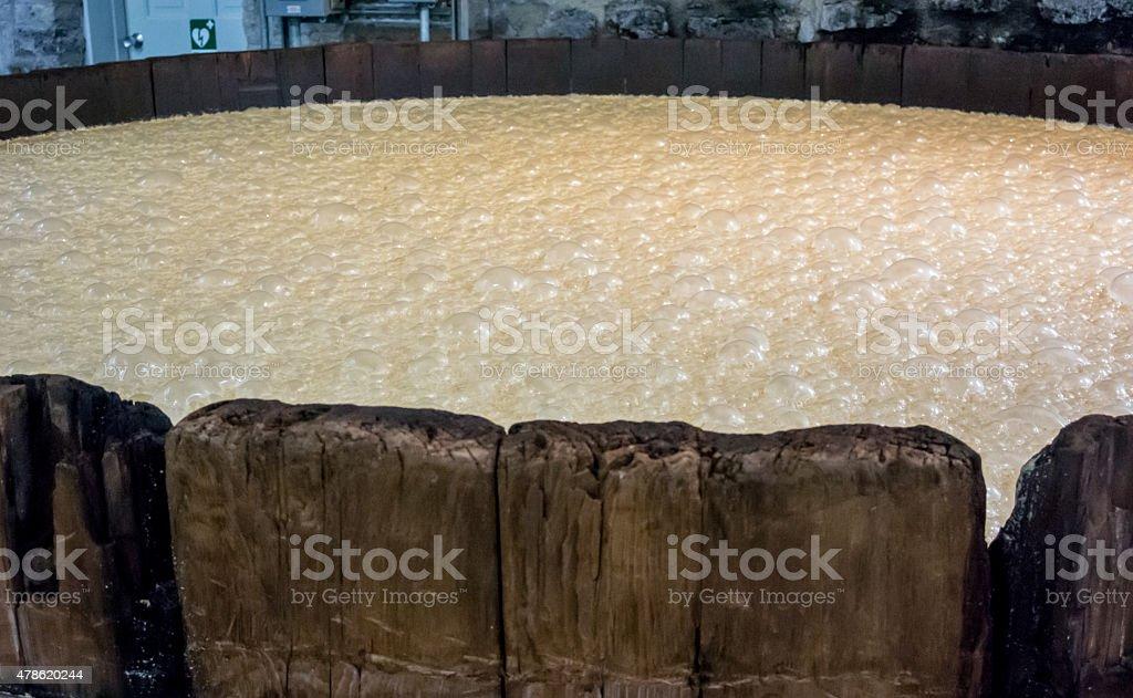 Aged Bourbon Mash Tank stock photo