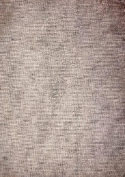 Aged Calico Fabric stock photo