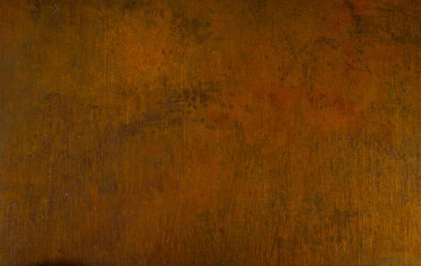 leeftijd koperplaat textuur, oude versleten metalen achtergrond. - steampunk stockfoto's en -beelden