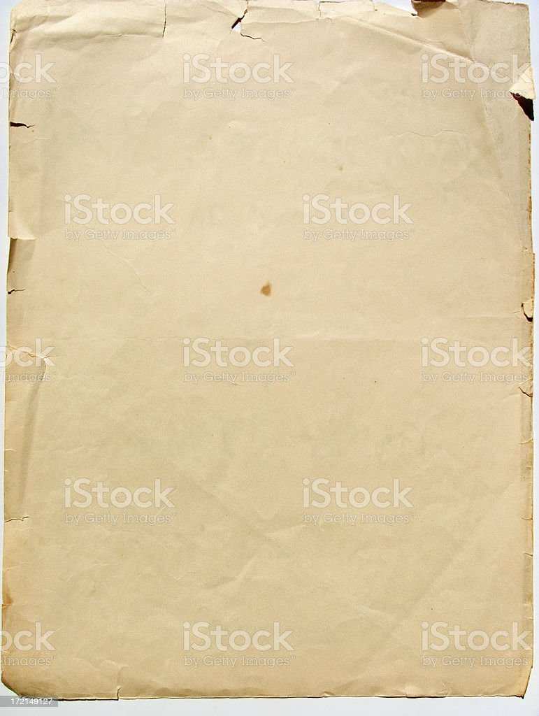 aged cream paper texture royalty-free stock photo