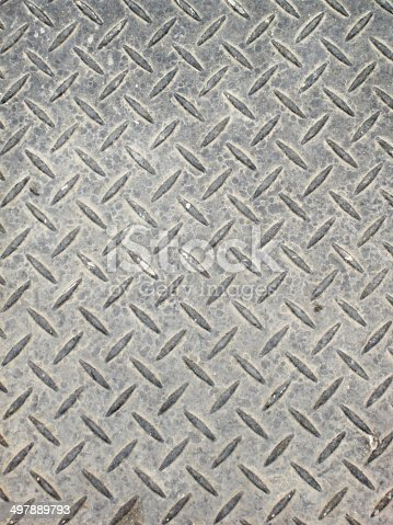 istock aged diamond plate background 497889793