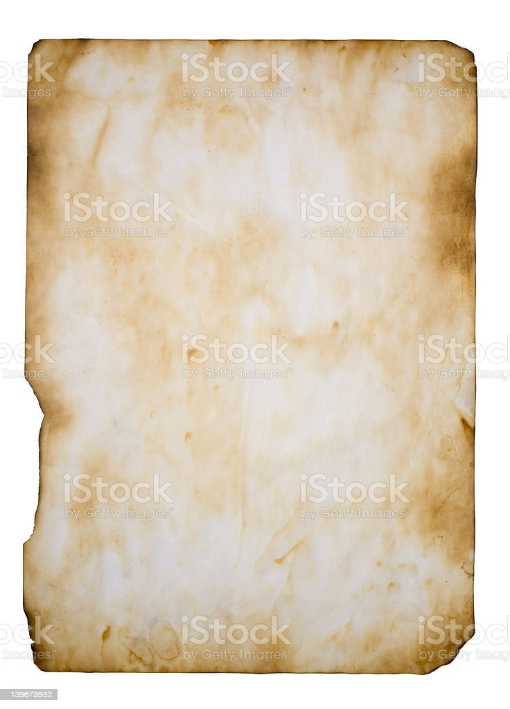 aged dirty paper royalty-free stock photo