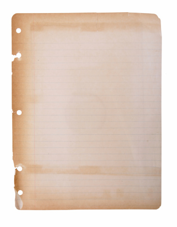 Aged Faded Notebook Paper