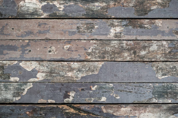 aged gray painted wood plank texture background stock photo