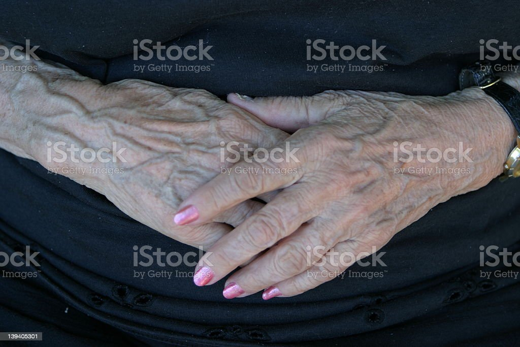 Aged Hands royalty-free stock photo