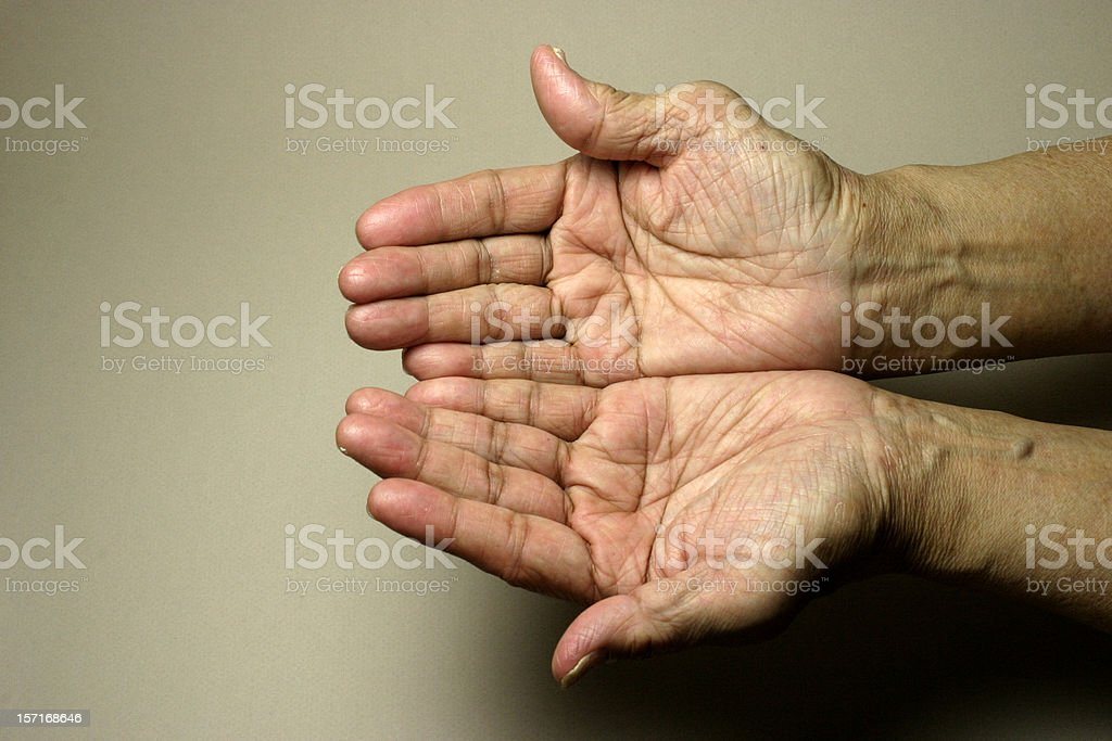 Aged Hands stock photo