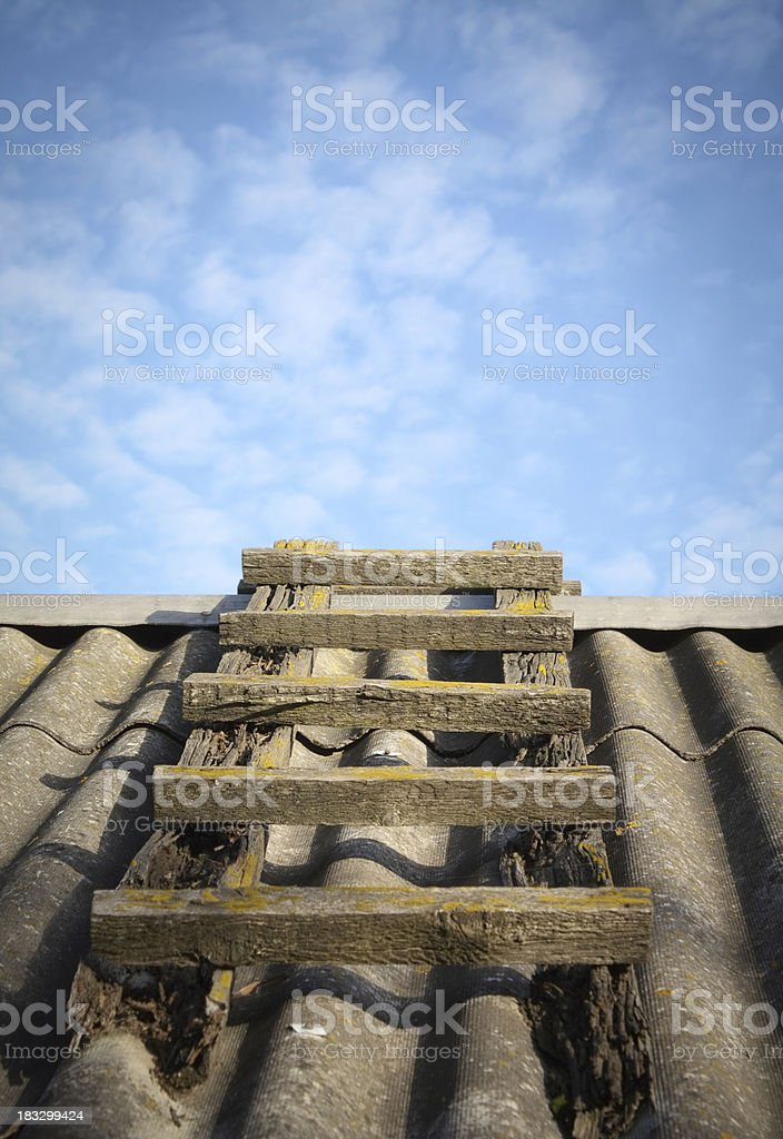 Aged ladder royalty-free stock photo