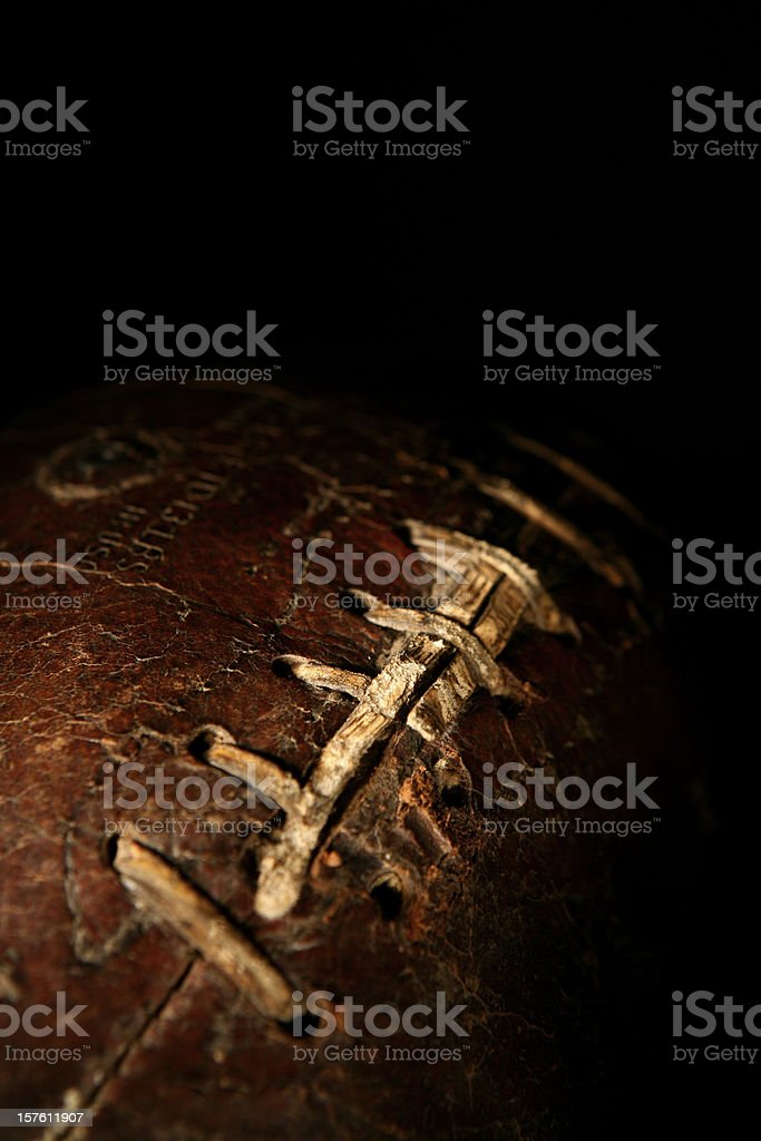 Aged Leather Football royalty-free stock photo