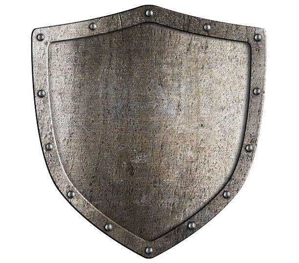 aged metal shield isolated on white aged metal shield isolated on white shielding stock pictures, royalty-free photos & images