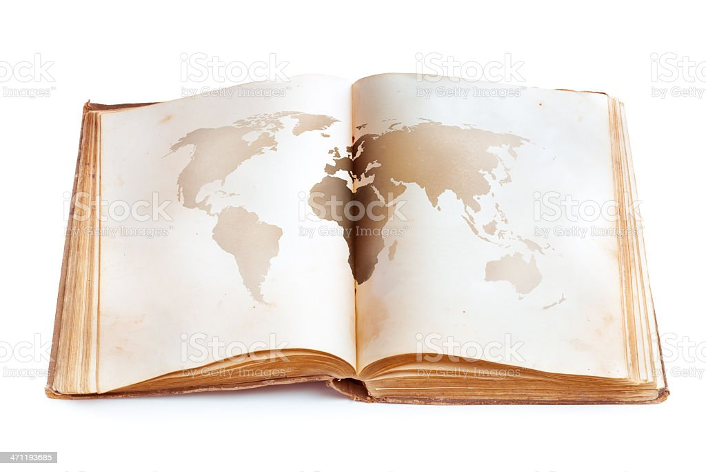 Aged navigation book royalty-free stock photo