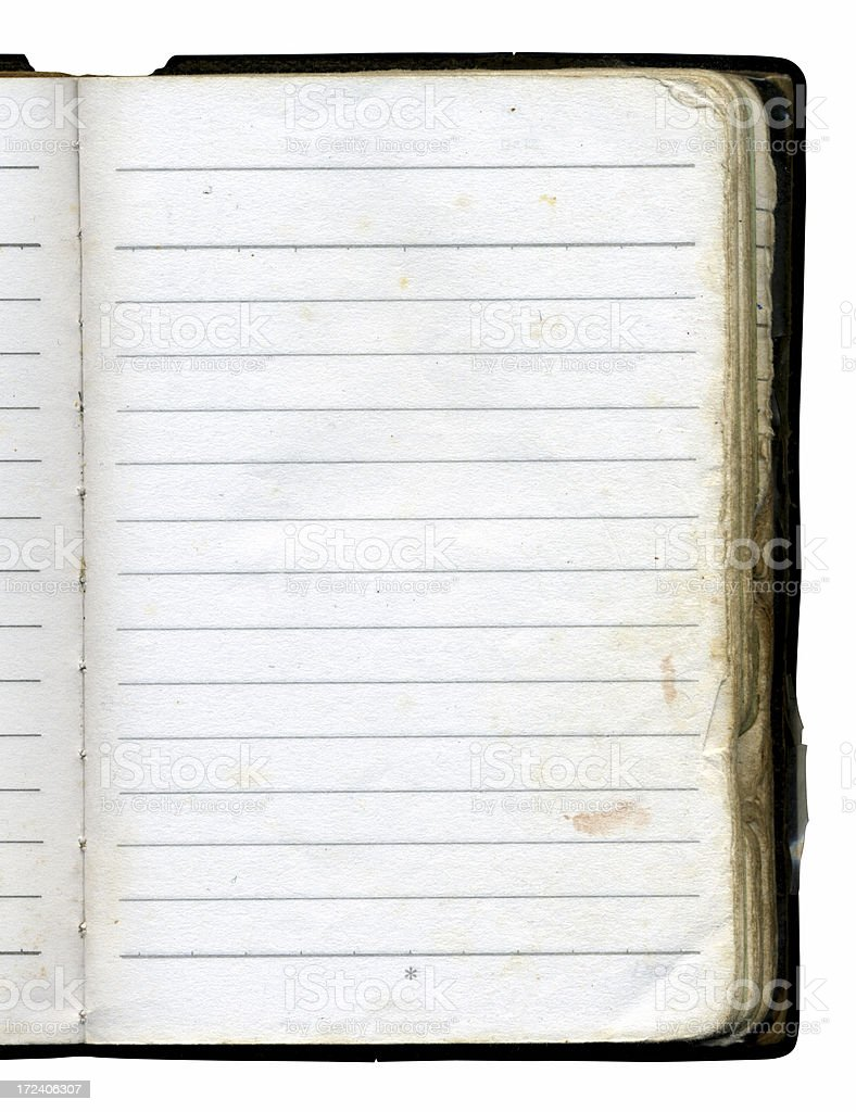 Aged Notebook royalty-free stock photo