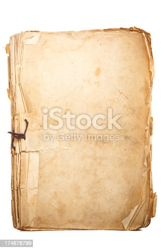 Isolated aged notepad