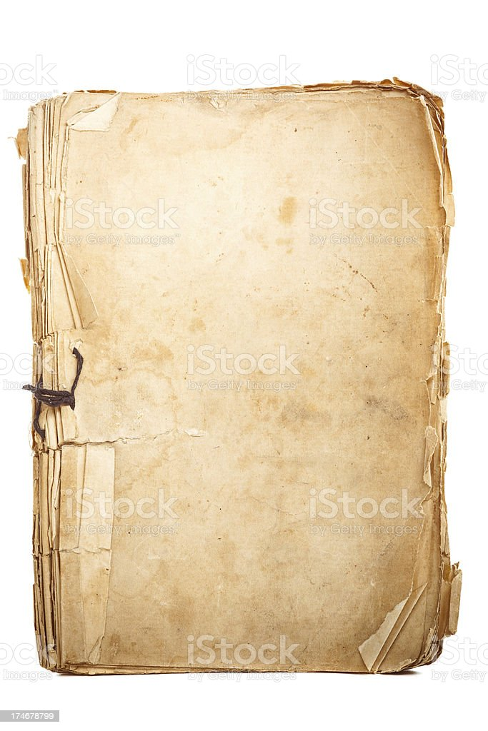Aged notepad stock photo