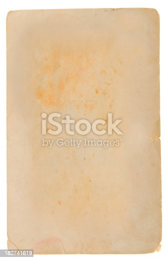 882302538 istock photo Aged, Old Paper, Card 182741619