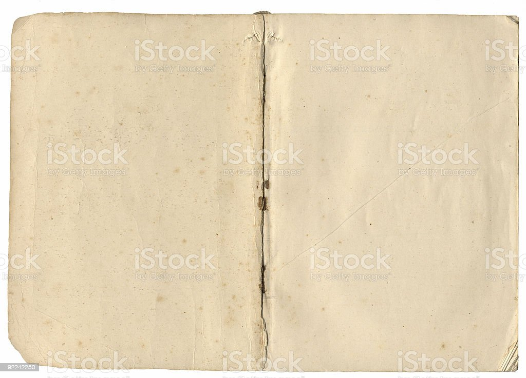 Aged open book royalty-free stock photo