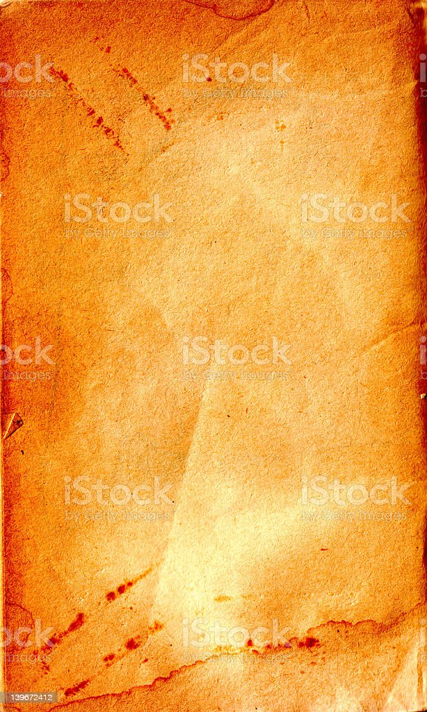 aged paper (scanned) royalty-free stock photo