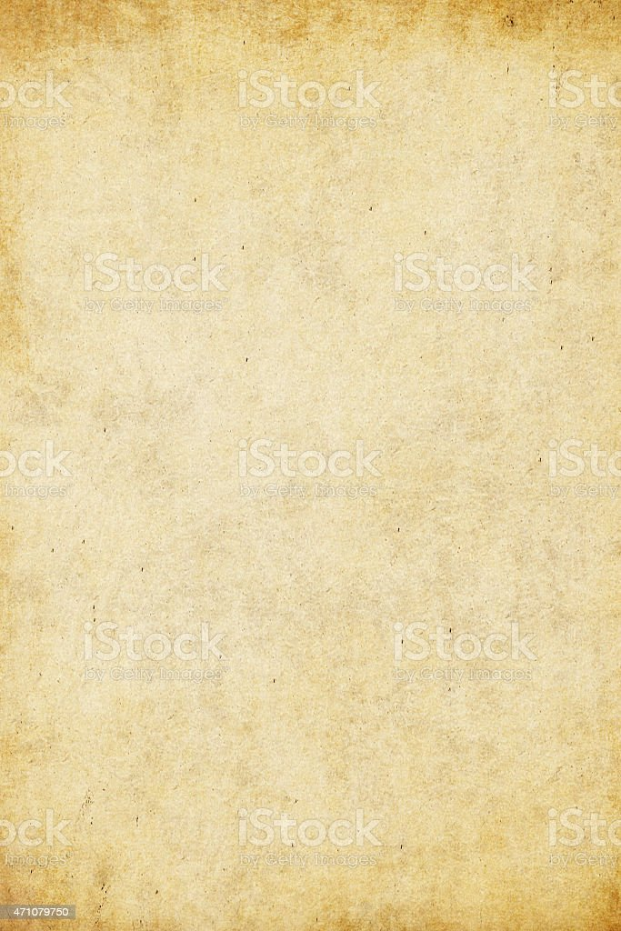Aged paper template with darkened edges stock photo