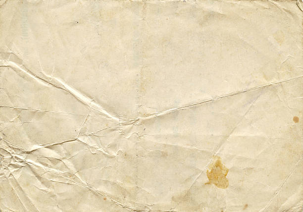 aged paper texture - folded stock photos and pictures