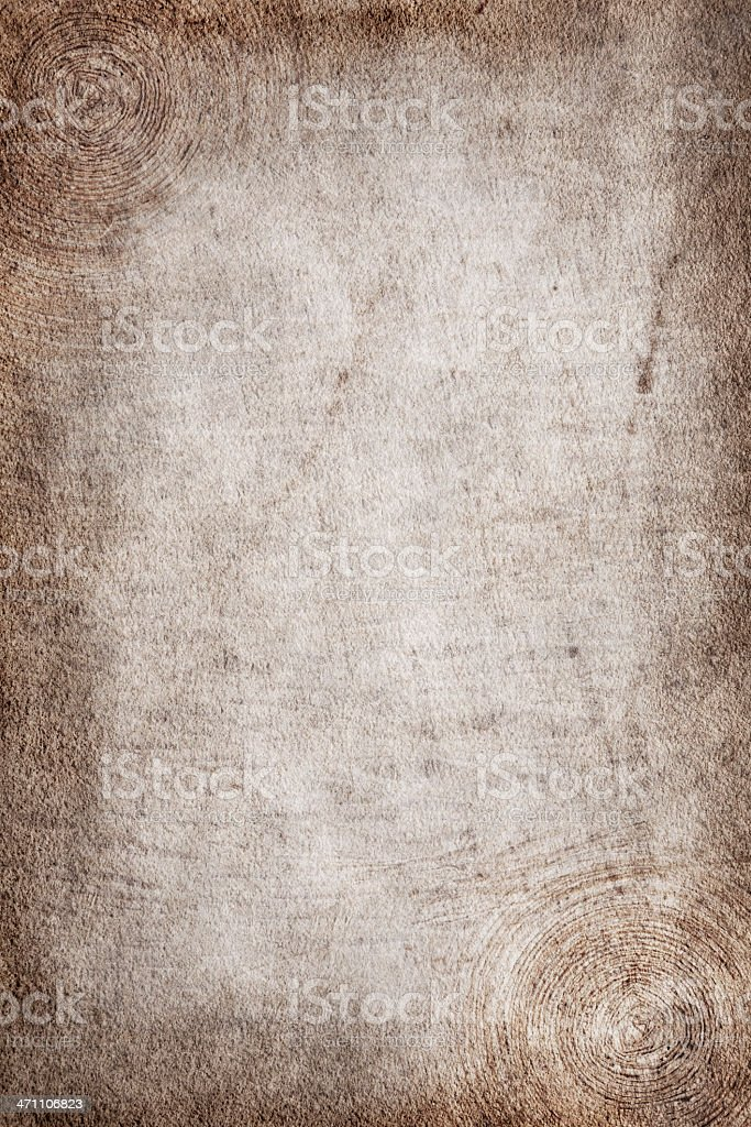 Aged paper with circles in the corners royalty-free stock photo