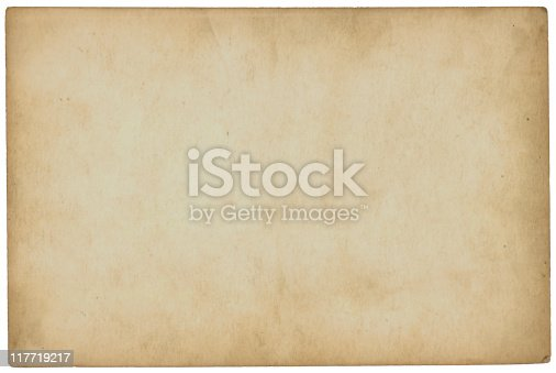 istock Aged paper with slight yellowing 117719217