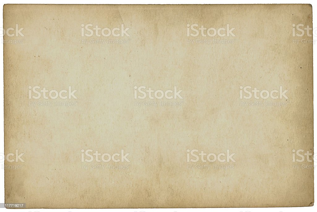 Aged paper with slight yellowing stock photo