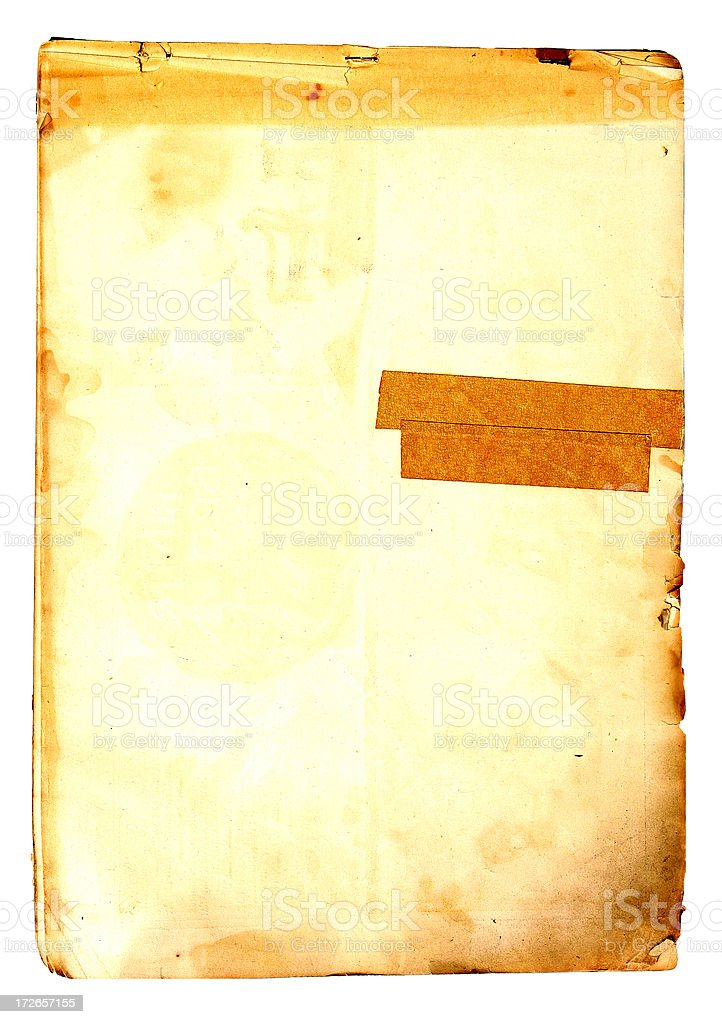 Aged Paper with Tape Decay royalty-free stock photo