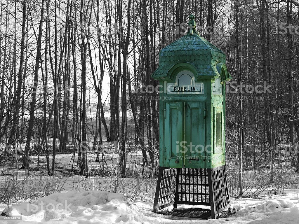 Aged phonebooth royalty-free stock photo