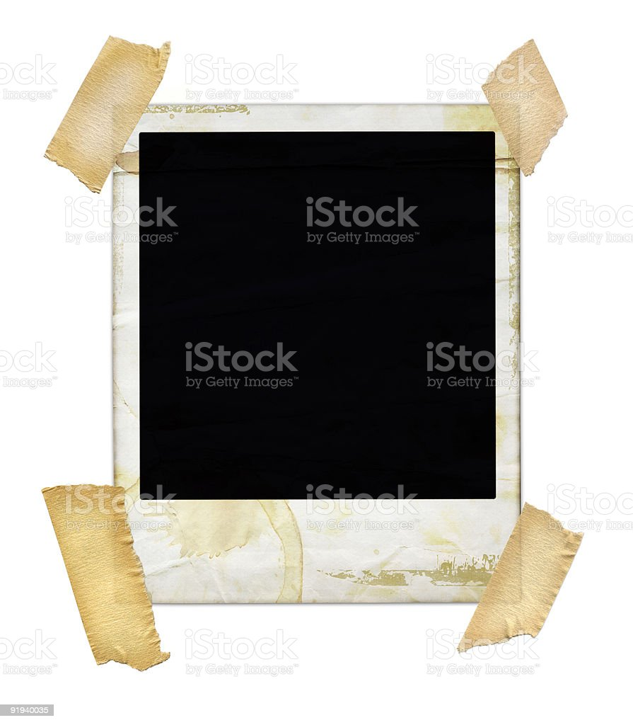 Aged photo with Tape royalty-free stock photo