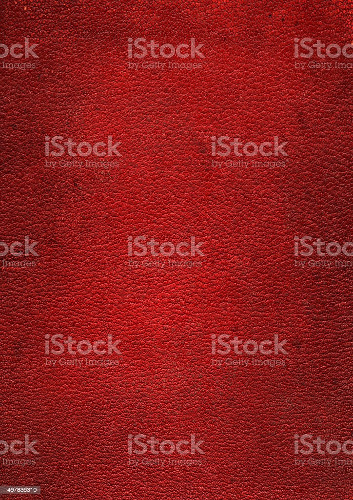 Aged Red Leather Background Texture stock photo