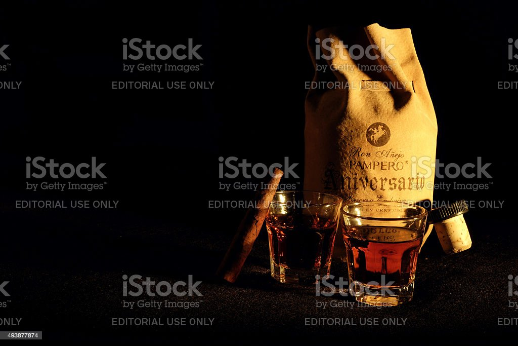 Aged Rum Pampero Aniversario stock photo