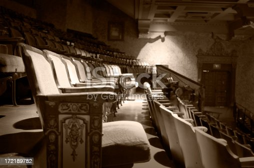 aged and colorized theater seats...some visible noise.