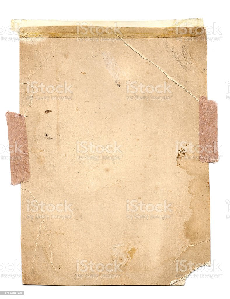 Aged Stained Paper Background royalty-free stock photo