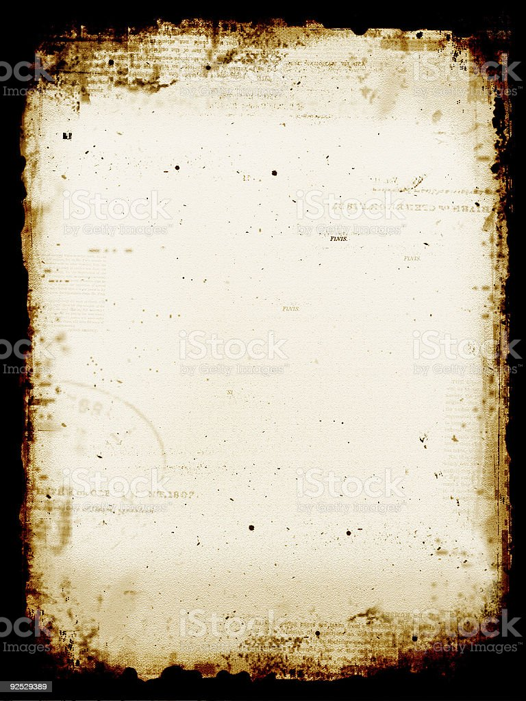 Aged stained paper stock photo