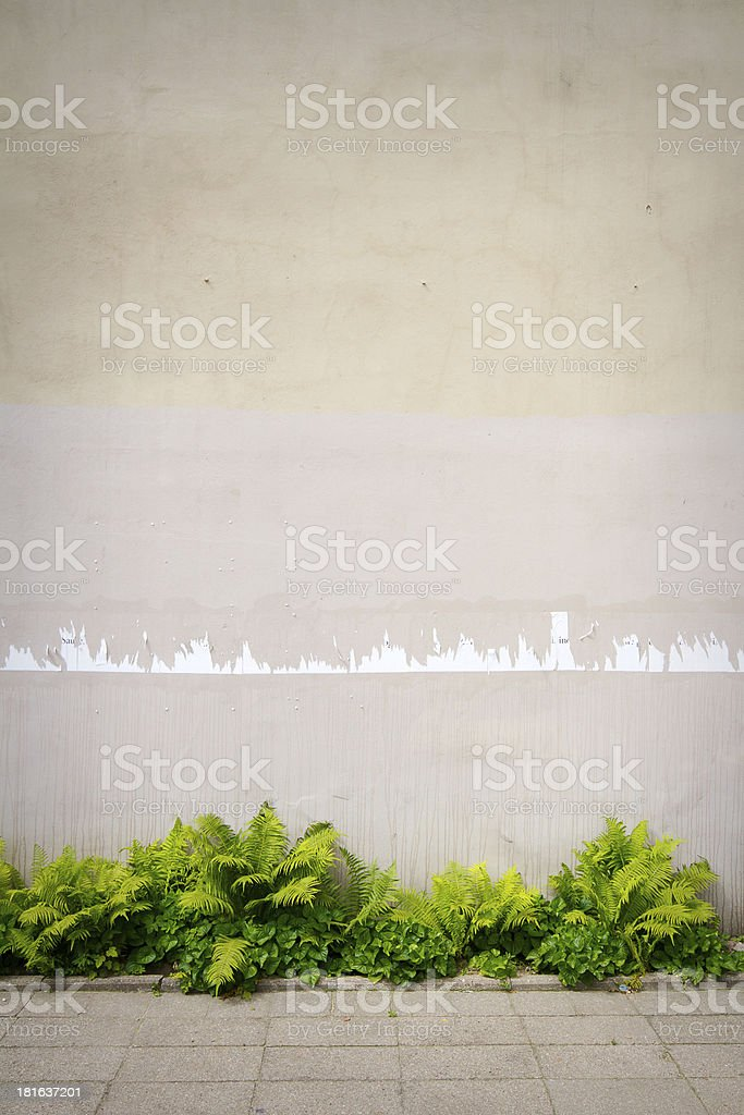 Aged street wall royalty-free stock photo