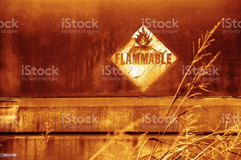 Aged Texture - Flammable 2 royalty-free stock photo