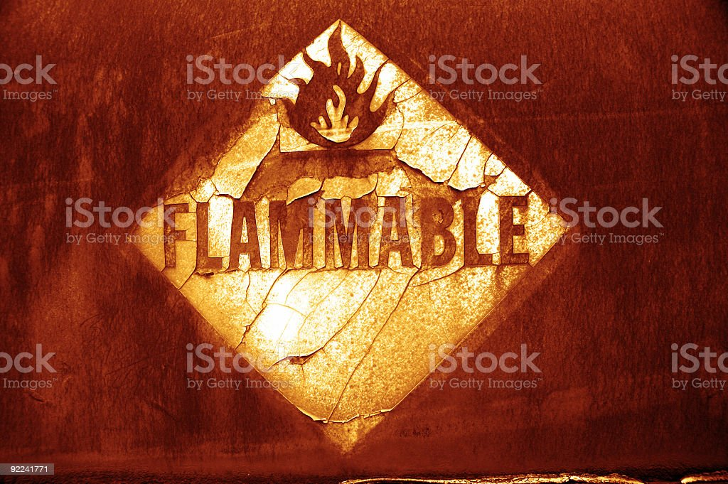 Aged Texture - Flammable 3 royalty-free stock photo