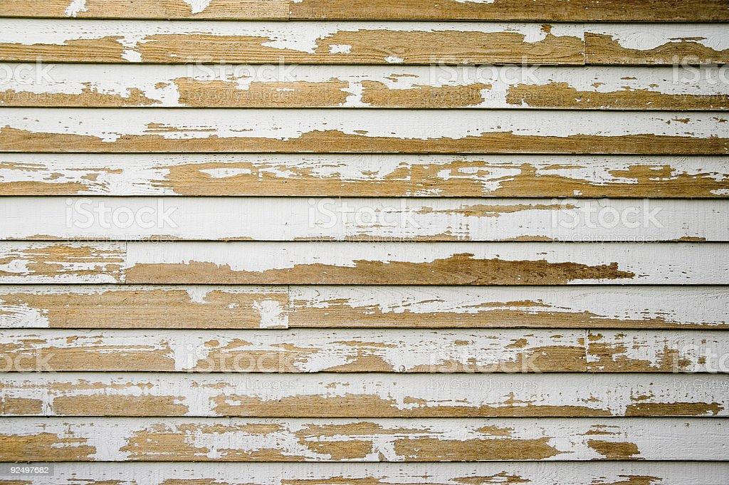 Aged Texture - Peeling House Paint 1 royalty-free stock photo