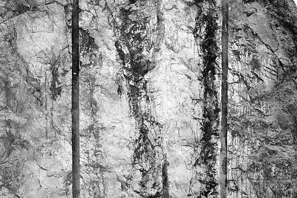 Aged Textures - Black and White Grunge stock photo