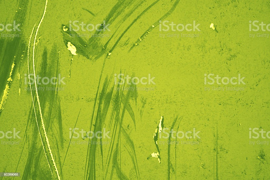 Aged Textures - Green Scratches royalty-free stock photo
