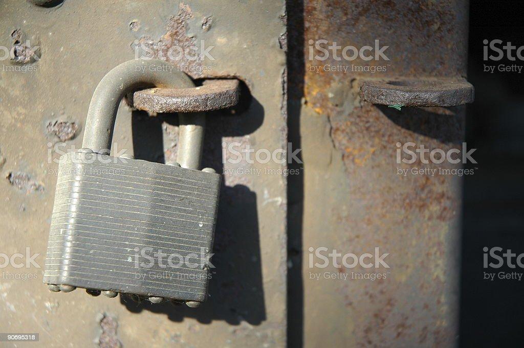 Aged Textures - Locked royalty-free stock photo